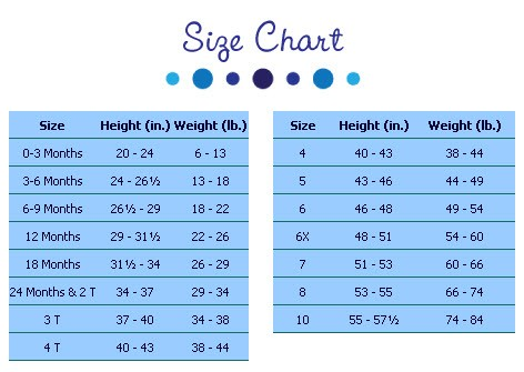 Peaches n Cream Size Chart