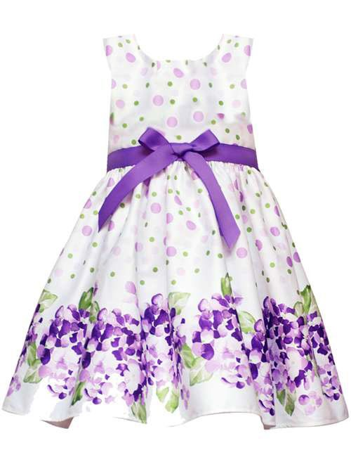 New Baby Girls RARE Editions Sz 18M White Purple Flower Dress Birthday Clothes