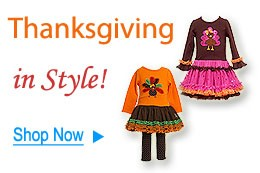 Shop Girl's Thanksgiving Dresses at Color Me Happy Boutique!