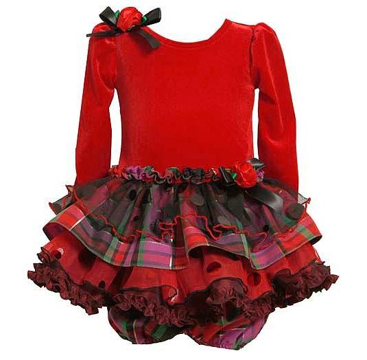 Jean sz 12m 18m 24m red plaid ruffle christmas dress holiday ebay