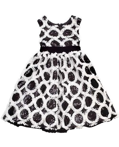 Rare Editions Black Sequins Soutache Special Occasion Dress Girls 7-16