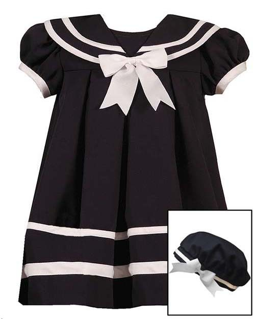 New Baby Girls Rare Editions sz 18m Navy Sailor Dress