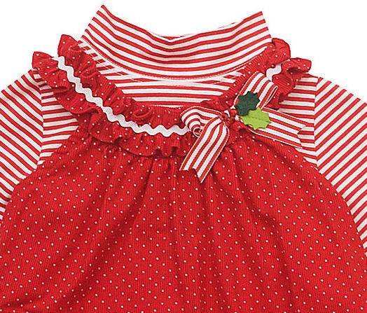 Rare Editions Candy Cane Red Corduroy Jumper Dress Baby