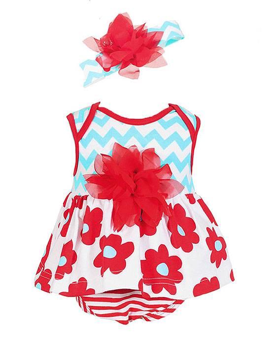 New Girls Boutique Peaches n Cream sz 18m Aqua Red Bubble