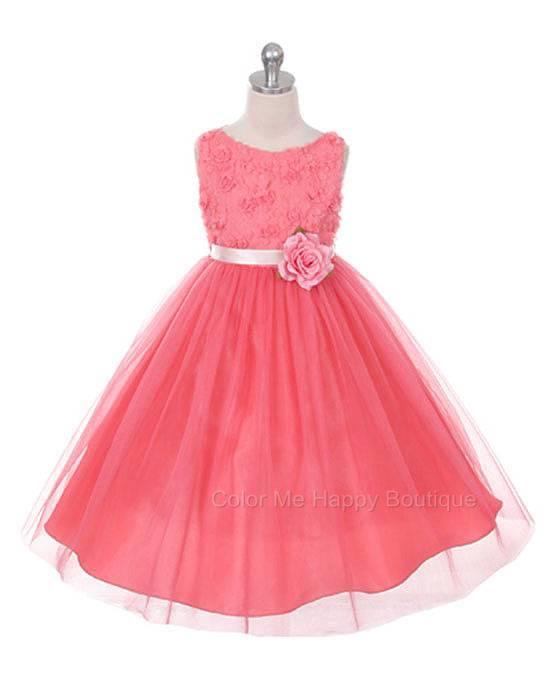 MBK 278 Bonaz Bodice Coral Dress