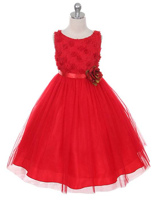 MBK 278 Bonaz Bodice Red Dress