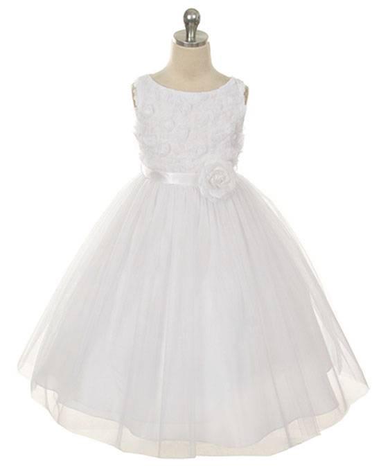 MBK 278 Bonaz Bodice White Dress