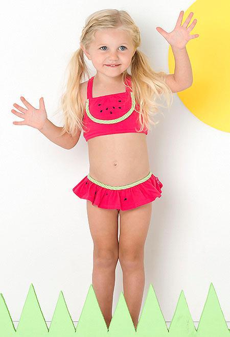 watermelon cutie skirted swimsuit girls 4 6x   color me happy boutique