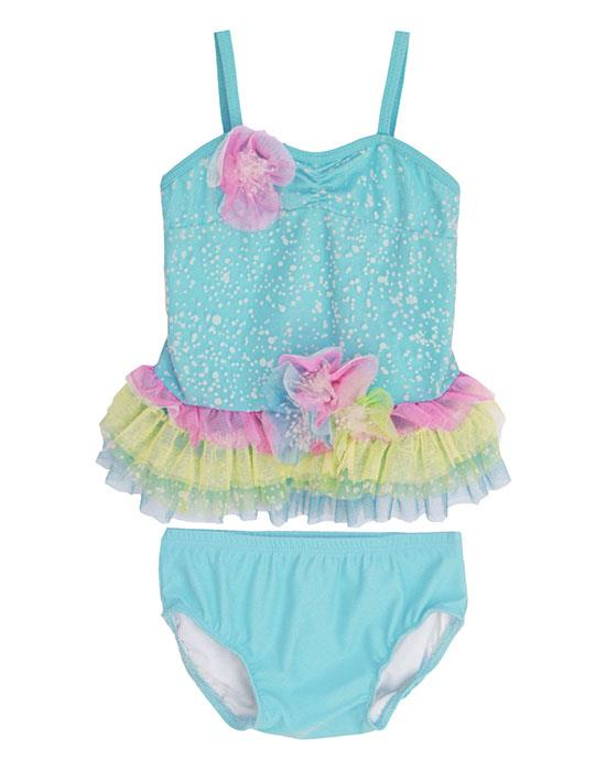 Isobella and Chloe Aqua SEA SPRAY Tankini Swimsuit BABY Girls 12m-24m