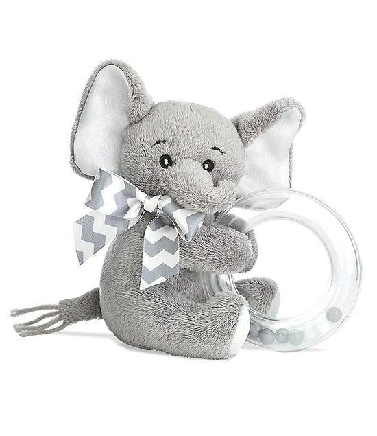 "Bearington Baby Lil' Spout ELEPHANT Shaker Rattle 4"""