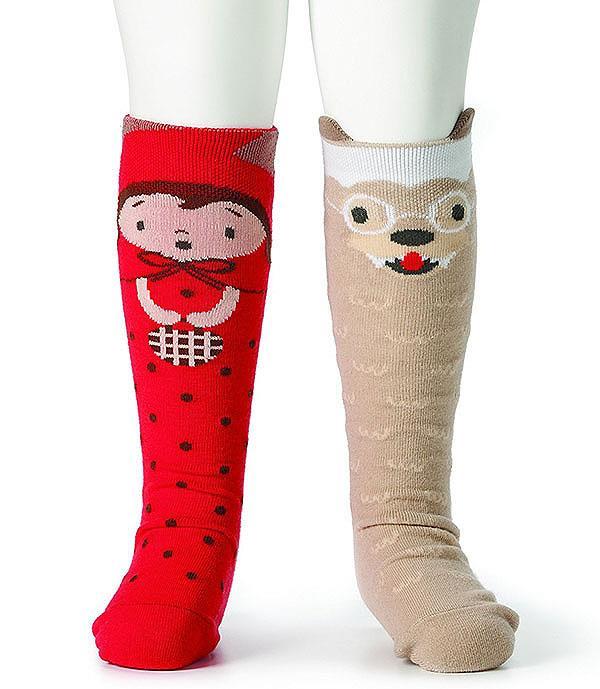 Story Time Knee Socks LITTLE RED RIDING HOOD Baby Toddler Girls 18m-36m