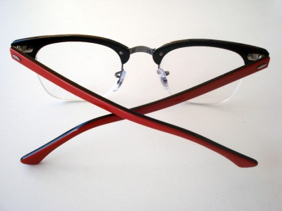 RAY BAN RB 5201 EYEGLASSES RED RB5201 C.2378 SEMI-RIMLESS ...