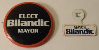 Mayor Michael Bilandic 79 Chicago Button Pin