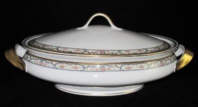 theodore haviland schleiger 859 oval bowl lid limoges ebay. Black Bedroom Furniture Sets. Home Design Ideas