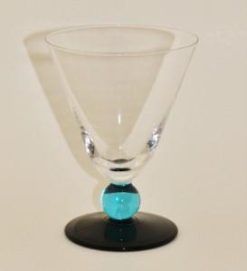 Blue Ball Stem Base Set Of 6 Wine Glasses Ebay