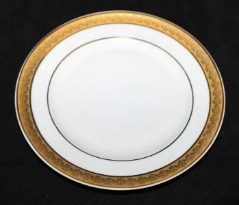 bernardaud limoges santeuil dinner plate gold encrusted. Black Bedroom Furniture Sets. Home Design Ideas