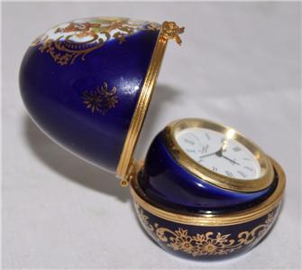 limoges france cobalt blue gold 2 1 2 egg shape lovers. Black Bedroom Furniture Sets. Home Design Ideas