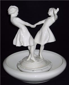 hutschenreuther kunstabteilung dancing girls c werner figurine flower base ebay. Black Bedroom Furniture Sets. Home Design Ideas