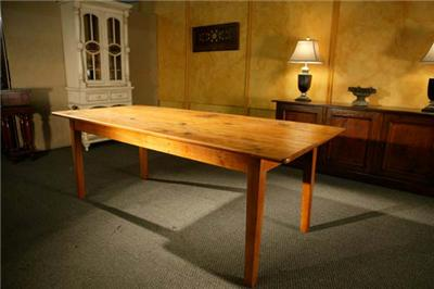 New large 8 39 ft dining room table harvest farm table ebay for 9 foot dining room table