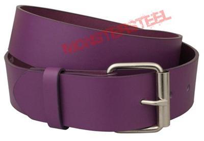 purple leather belt snap on buckle 1 5 inch wide ebay
