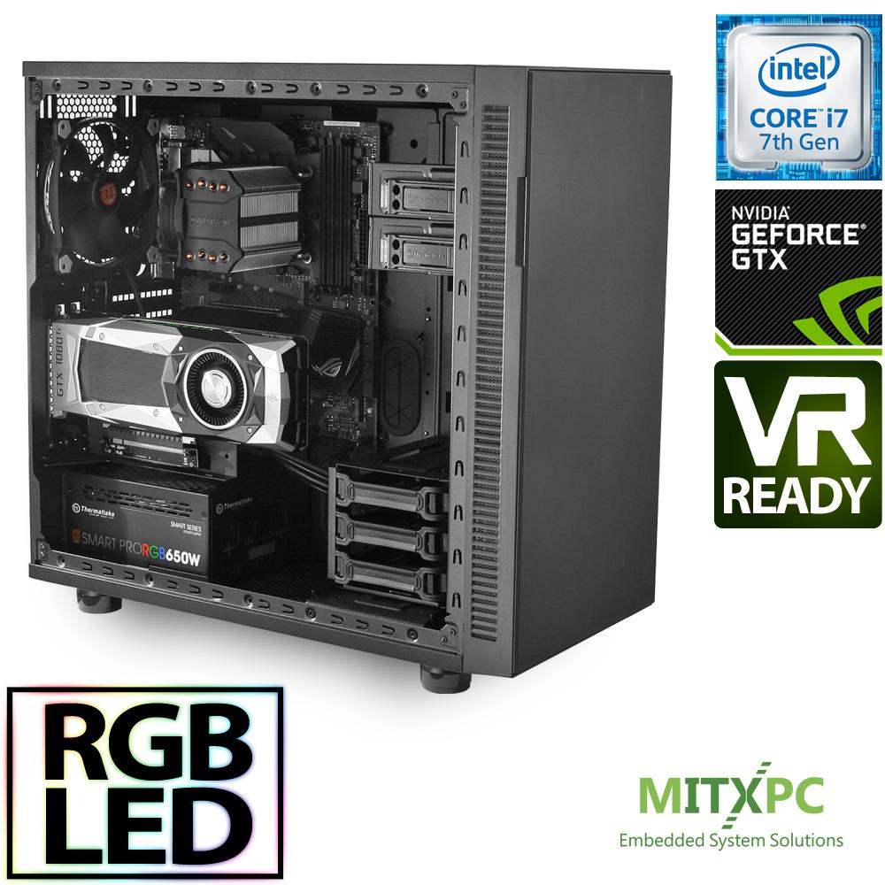 vr ready gaming pc asus rog z270 intel i7 7700 16gb 256gb nvme f31 gtx 1080ti. Black Bedroom Furniture Sets. Home Design Ideas