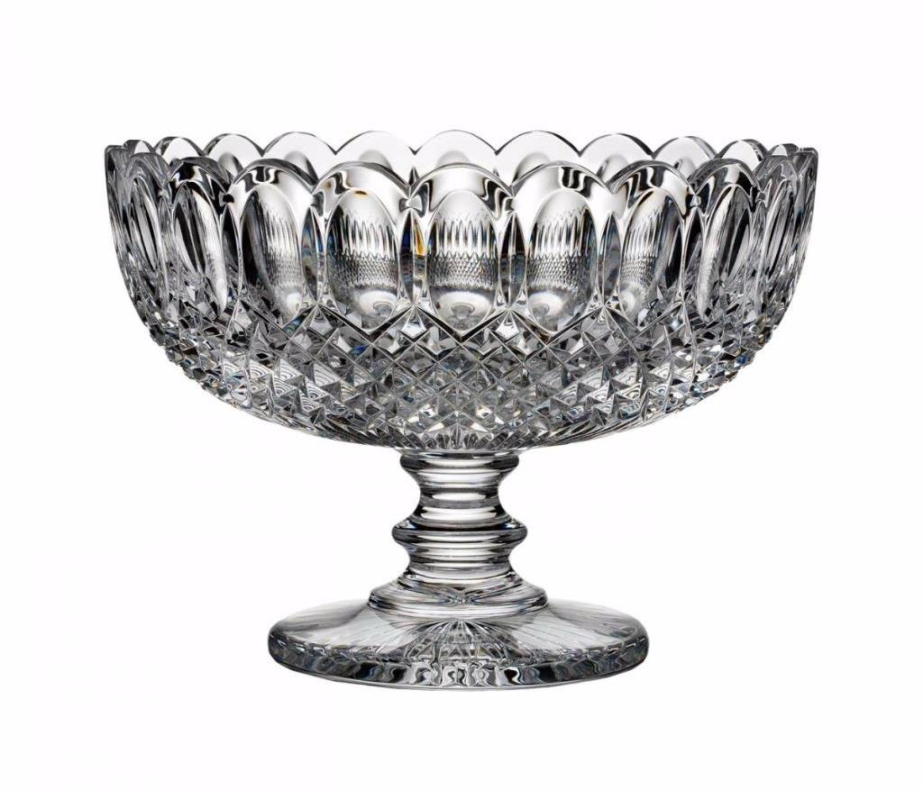 New house of waterford georgian windows 11 footed centerpiece bowl ireland 950 ebay - Footed bowl centerpiece ...