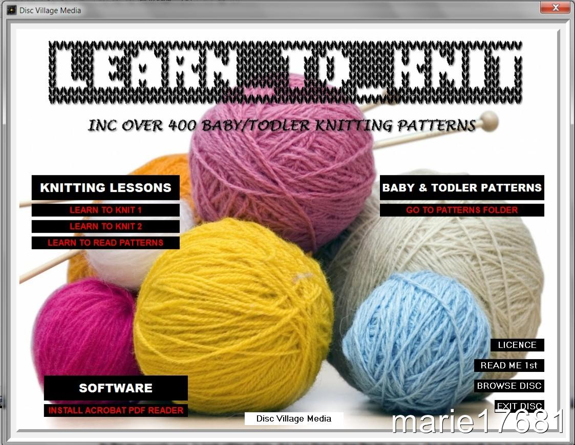 LEARN HOW TO KNIT STEP BY STEP GUIDE + 400 BABY KNITTING PATTERNS ON CD ROM N...