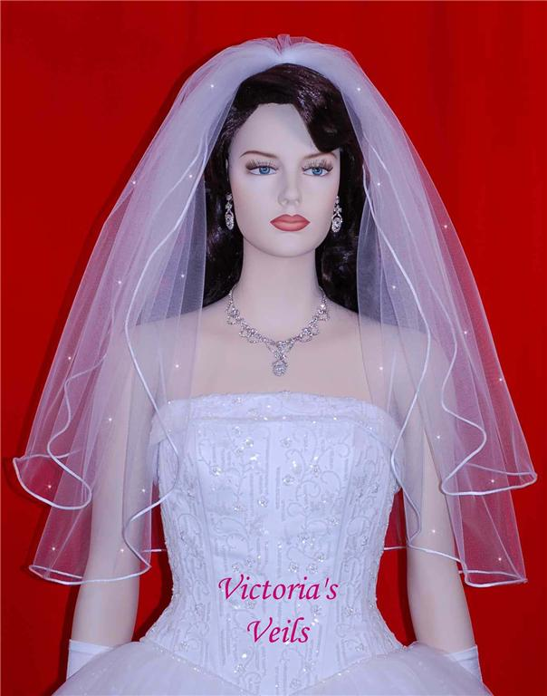 2 tier wedding veil