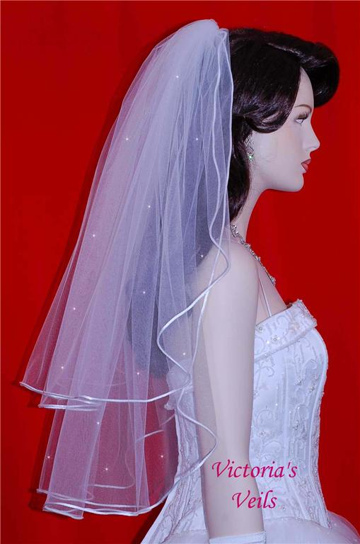 2 tier wedding veils