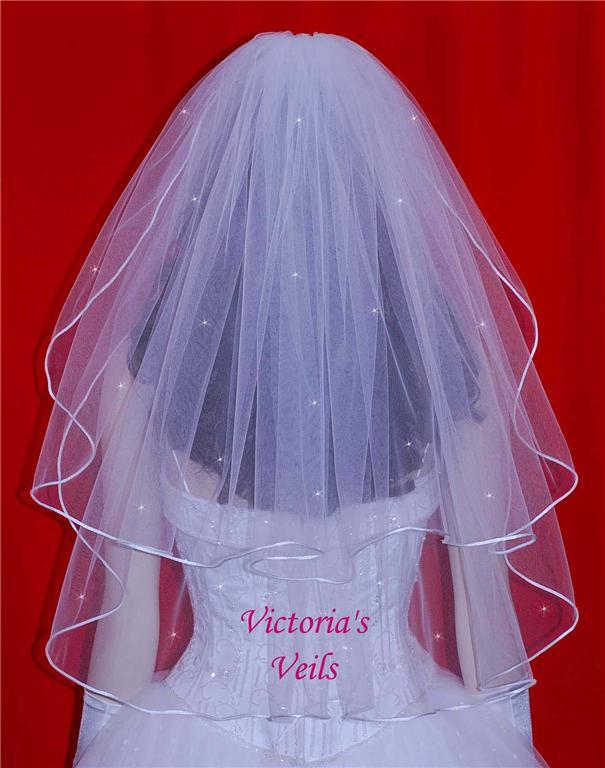 two tier wedding veils