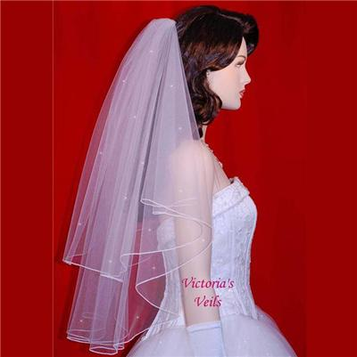 white wedding bridal pearls ribbon edge comb veil wedding