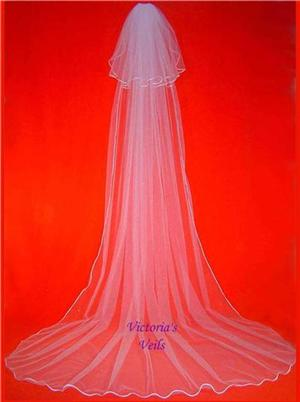 2 TIER CATHEDRAL WEDDING BRIDAL VEIL  61-3