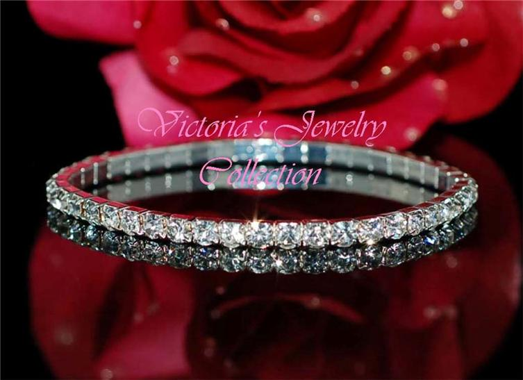 Rhinestone bracelet bridal accessories