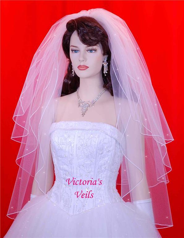 3 tier wedding veil