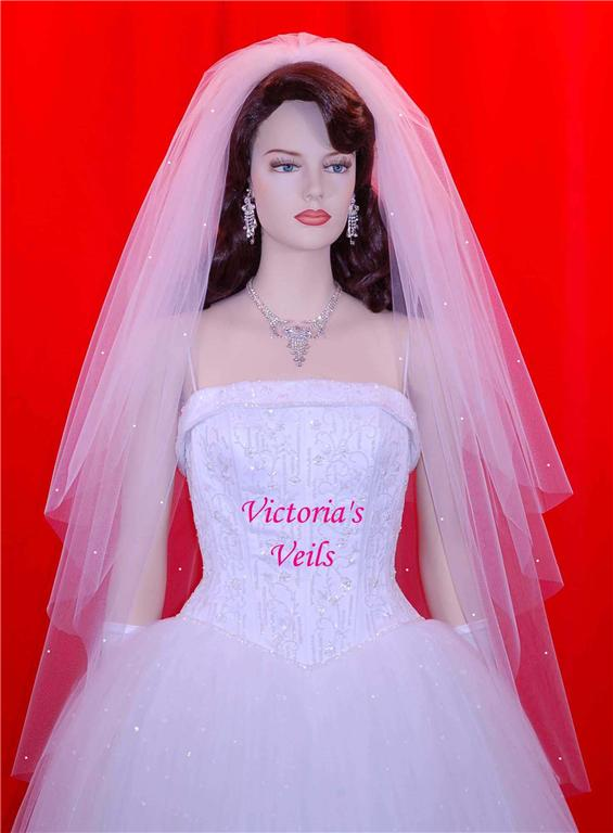 3 tier wedding veil