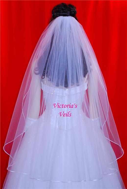 1 tier wedding veil