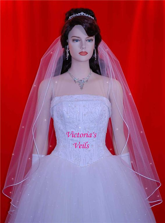 White Ivory veil Diamond
