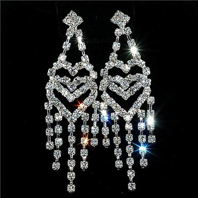 Rhinestone earrings bridal accessories