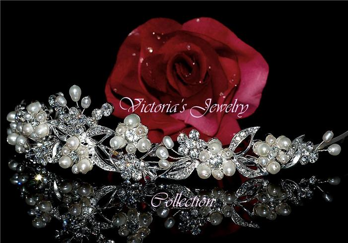 Rhinestone bridal tiara wedding prom accessories