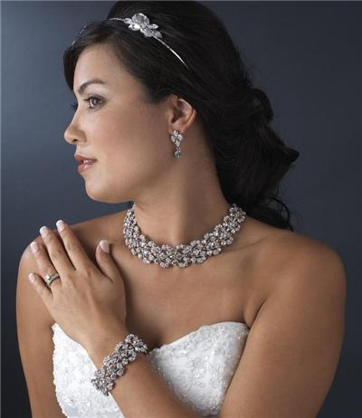 Wedding Prom Earrings Necklace Set accessories