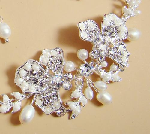 Crystal Bridal Wedding Prom Earrings Necklace