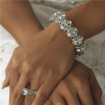 bridal wedding prom bracelet bracelets jewelry accessories