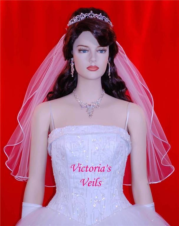 1 single tier wedding veil