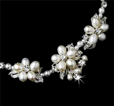Couture Freshwater Pearl Crystal Fashion Wedding Bridal Prom Bracelet  WB6506