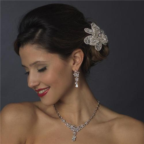 bridal necklace earrings prom wedding