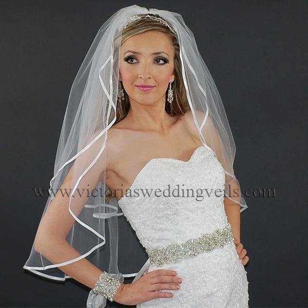 bridal veil ribbon edge