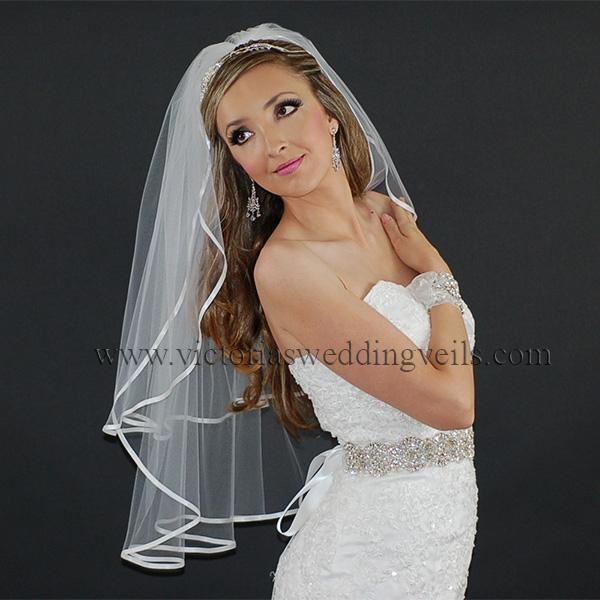 wedding veil 1/4 ribbon