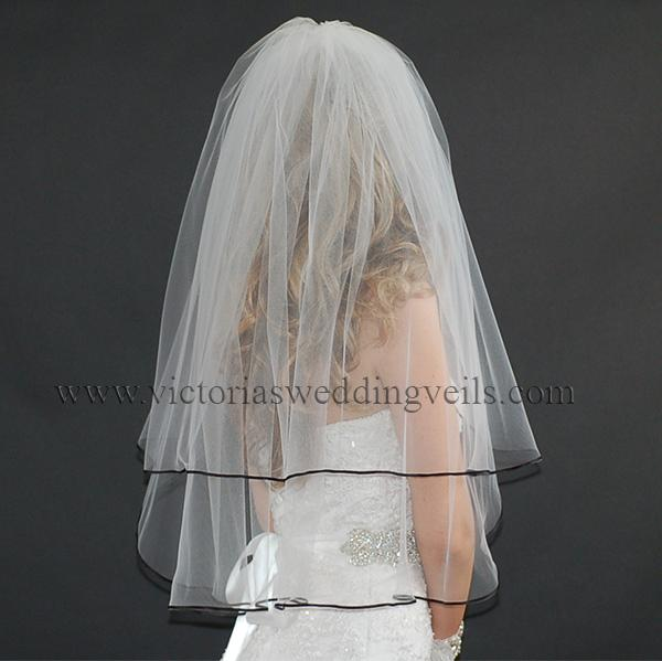 black wedding veil accessories