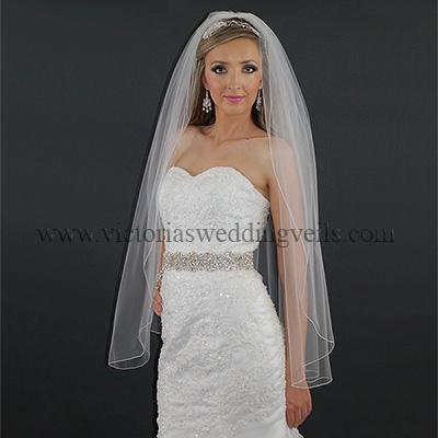 1 Layer Pencil Edge Bridal Veil N7-4