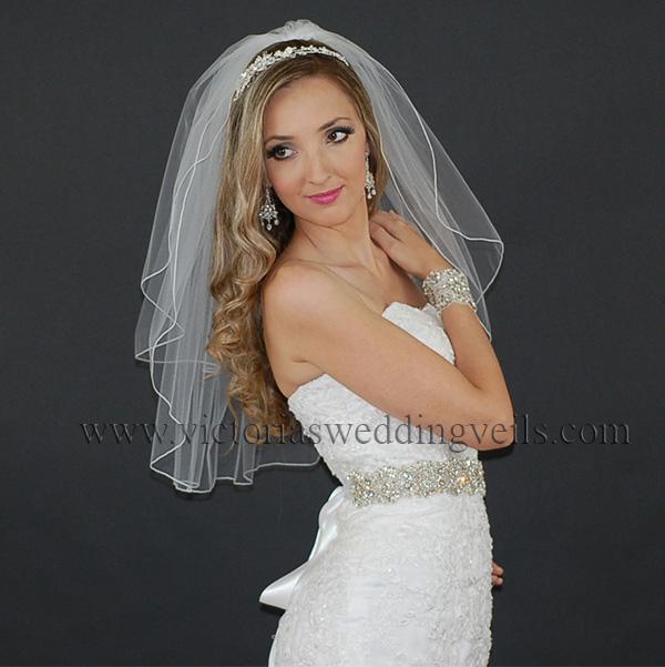 cord edge wedding veil